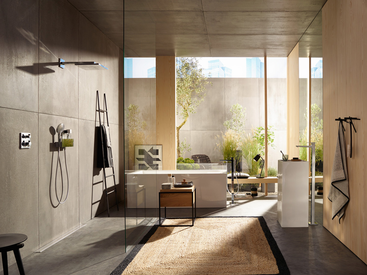 concevoir une salle de bain m diterran enne id es hansgrohe fr. Black Bedroom Furniture Sets. Home Design Ideas